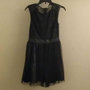 Lace and Tulle Pleated Dress